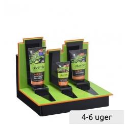 Præsentations-Display til 3 kosmetik tuber