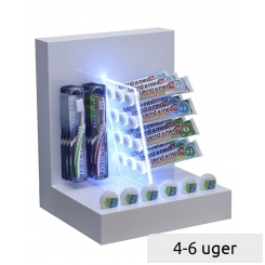 Presentation-Display with LED, for dental care products