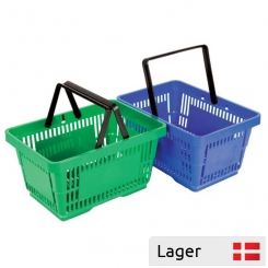 22 L Plastic Shopping Basket - with/without Logo