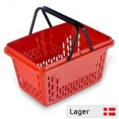 28 liter Plast indkøbskurv, med mulighed for logo