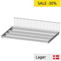 Reversible wire shelf, suits on separate brackets, RAL 9006