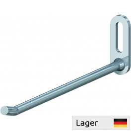 Single hook ø7, with upturned end. for mounting with a screw