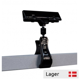 Wide information holder / clip 80 mm. Black