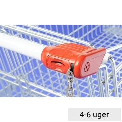Coin lock for Shopping Trolley with round handle