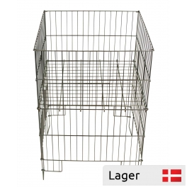 Folding Basket in wire, with adjustable bottom, Zinc