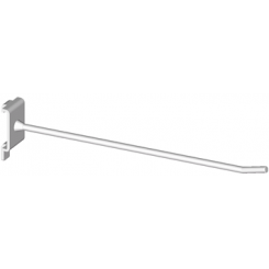 Single hook for panel with square holes, distance 34mm c/c