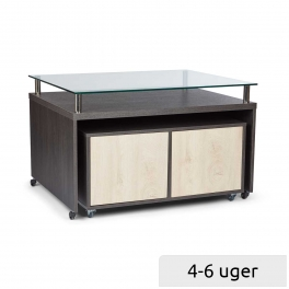 Sales podium with 4 drawers and glass top