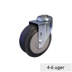 Rulletrappe hjul, med 1 skive
