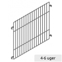 Divider for sales basket with 2 loose adjustable shelves