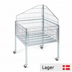 Impulsive sales basket with top divider