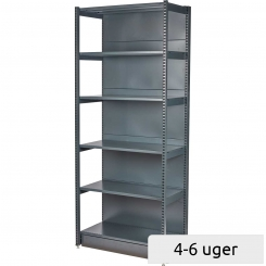 Shelving with front upright