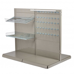 NORDIC Floor shop racks - T form gondola set pegboard 90 cm.