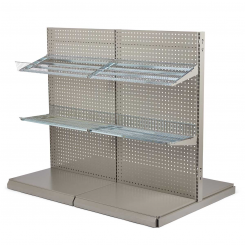 NORDIC Floor shop racks - T form gondola set pegboard 60 cm.