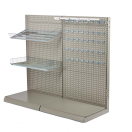 NORDIC Wall shop racks - L form gondola set pegboard 90 cm.