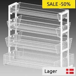 Baskets system for pallets, volume seller