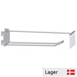 Double hook with price arm, for pegboard  20x3mm, with out price holder