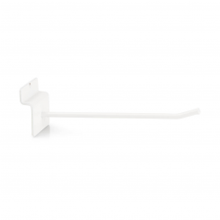 Single hook, for slatted panels white Ral 9010