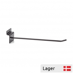 Single hook, for slatted panels black Ral 9005