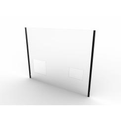 Corona plexiglass shield for ITAB FS 2.0 checkout counters