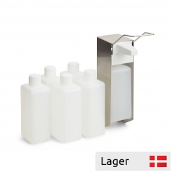 Disinfectant pump dispenser set