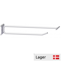 Single hook with price arm, for pegboard 9,5x9,5mm, spacing 38mm
