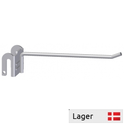Single hook with plate bracket, for 6mm bar