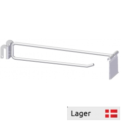 Single hook with price arm, for 6mm bar (Without price holder)