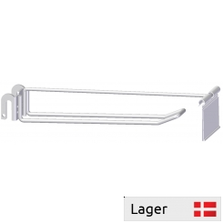 Double hook with price arm, for 6mm bar (Without price holder)