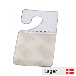 Adhesive pad with euro hank