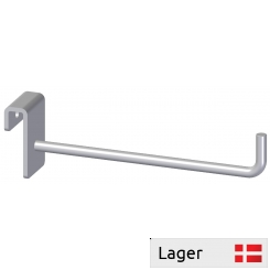Single hook with bended ending, for 6mm bar