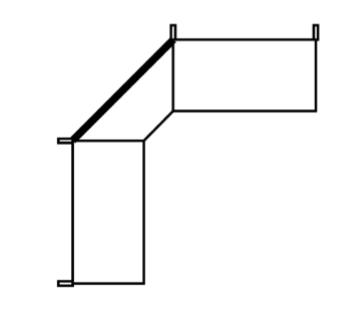 Back panel internal corner