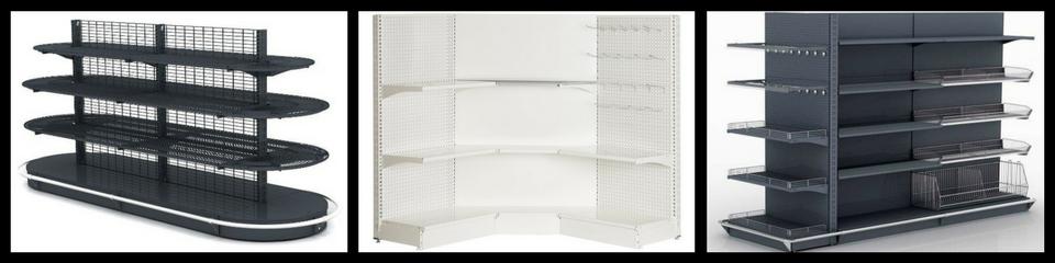 Butiksreoler, Grundinventar, Store shelving system