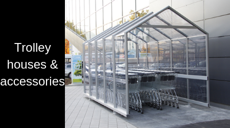Complete trolley houses with additional accessories such as wagon starter, starter chains or waste bins